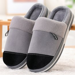 $enCountryForm.capitalKeyWord Australia - Winter men slippers Non slip Keep warm Sturdy Sole Light Weight House shoes for male Soft Velvet House slippers men Memory Foam