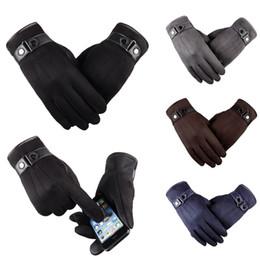 $enCountryForm.capitalKeyWord Australia - Men Winter suede fabric Warm Thermal Glove Mittens Touch Screen Gloves Outdoor Ski Gloves Waterproof work Man Male