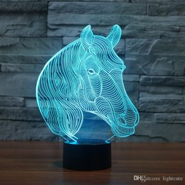 Toys change shape online shopping - 3D Horse Shaped Lamp Bedside Baby Night Light Kids Toy Home Decor D Illusion Lamp Touch Color Change Kids Birthday Xmas Gift