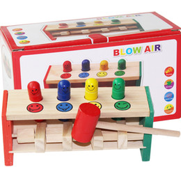beat toy Canada - New Wooden Toy Lighting Percussion Toy Wooden Beat Trapeze Classic Educational Toy Children Baby Noise Maker Play