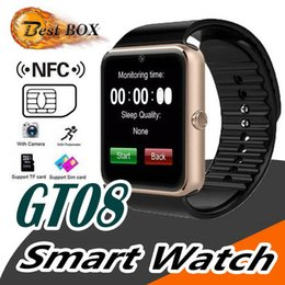 smart watch 1.5 Australia - Smart watch GT08 1.5 inch color screen step sleep monitoring camera smart wear Bluetooth card sports watch FOR: IPHONE Samsung Xiaomi