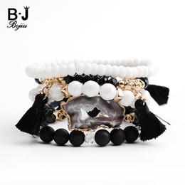 $enCountryForm.capitalKeyWord Australia - Bojiu Natural Druzy Bracelet For Women Fashion Black White Charm Bracelets Set Exquisite Crystal Stone Bracelet Jewelry Bcset106 J190703
