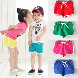 Boy Chinese Suit Australia - 5 Color Summer Girls Boys Shorts Toddler Infant Kids Girls Boys Solid Candy Color Short Beach Pants Suit For 2-6T Baby M8Y10#FN