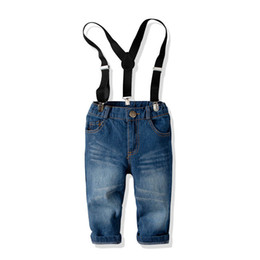 China kids designer clothes boys Jeans Denim Children Jeans Kids Trouser Boys Suspenders Fashion Casual Pants boys clothing kids clothes A2740 supplier jeans kids suspenders boys suppliers