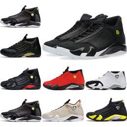 d452de615603d2 Cheap Brand 14s Indiglo XIV basketball shoes for men Red suede Thunder  Desert Sand DMP the last shot triple Black Toe sports sneaker