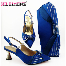 $enCountryForm.capitalKeyWord Australia - Royal Blue Special Design Italian Style Matching Shoes and Bag Set High Quality Italian Ladies Party and Wedding Shes Matching Bag