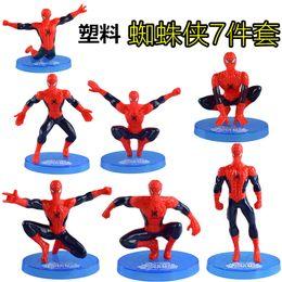 $enCountryForm.capitalKeyWord Australia - Spider-Man toy set of 7 with base Spider-Man birthday cake ornaments Superman doll cake decoration