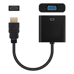 $enCountryForm.capitalKeyWord Australia - HDMI to VGA adapter convertor video 1080P Digital to Analog Audio Adaptor Cable Male to Female for PC Laptop Tablet Projector