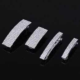 $enCountryForm.capitalKeyWord NZ - 4 Sizes Elegant Rhinestone Hair Pins Barrettes Crystal Hair Clip Women Fashion Jewelry Silver Plated Wedding Accessories