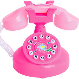 ElEctronic play online shopping - Telephone Electronic Toy Early Education Phone Toys Children Girls Plastic Gift Funny Play Musical With Voice rd D1