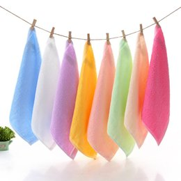 babies baths 2019 - 5 Colors factory wholesale bamboo fiber small square baby baby child 25*25cm towel wholesale Best price cheap babies bat
