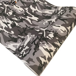 China Premium Quality Snow Camo Vinyl Sticker For Auto Car Motorbike Scooter Decoration White Black Camouflage Wrap Vinyl Film suppliers