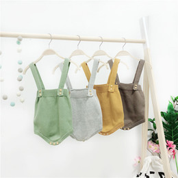 cute baby boy rompers Australia - 2018 High Quality Baby Boy Knit Romper Girls Cute Crochet Rompers Toddler Brand Spring Suspender Infant Lovely Knitting RomperMX190912