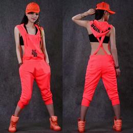 38937c9533fc Personality Hip Hop Dance Costume performance wear women romper European one  piece Pants loose overalls harem jazz