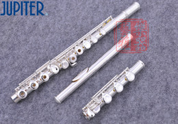 Keys Open Australia - New JFL-711 RBES 17 Holes Open C Key Cupronickel Flute Silver Plated Concert Flute With Case Cleaning Cloth Stick Gloves Free Shipping