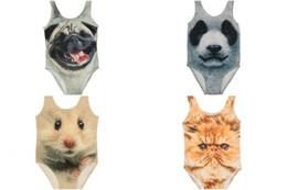 $enCountryForm.capitalKeyWord UK - 4 Colors Baby Kids Cartoon Tiger Cat Dog Panda One Piece swimwear Toddler Cute jumpsuits rompers Bikini bathing suits baby swimsuits