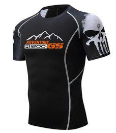 Xs mma shorts online shopping - R1200 GS T S adventure T shirt Fashion D Teen Wolf Short Sleeve Shirt Bodybuilding Crossfit MMA Fitness printing T shirt