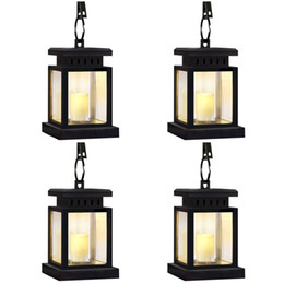 $enCountryForm.capitalKeyWord Australia - 4 Pack Garden Solar Lanterns Outdoor Hanging Solar Candles Waterproof Decoration for Garden Patio Deck Yard Fence Driveway Lawn