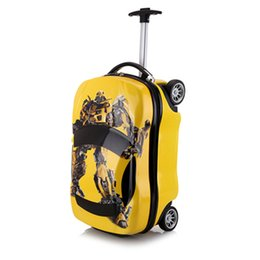 Toy Suitcases NZ - 18inch Kids Suitcase 3D Car Children's Luggage Travel Trolley case Suitcase set wheels Child schoolbags Toys Rolling storage box
