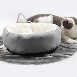 Cute Cat bedding online shopping - Cute Solid Winter Warm Pet Dog Cat Bed Puppy Cushion House Pet Soft Fleece Kennel Doghouse Mat Mattress
