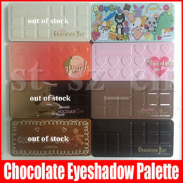 Dark green eyeshaDow online shopping - HOT Face Makeup white Chocolate Bar Eyeshadow semi sweet Sweet Peach Bon Bons Palette Color Eye Shadow chocolate gold palette