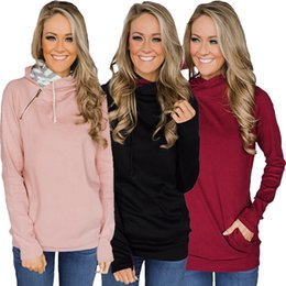 $enCountryForm.capitalKeyWord Australia - The most popular women's tops in Europe and the United States in autumn 2019 are fashionable casual zipper drawstring hoodie