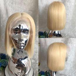 $enCountryForm.capitalKeyWord UK - Wig 613 Lace Front Human Hair Wigs Bob Cut Wigs 150% Honey Blonde Short Wigs Brazilian Human Hair Wig Full Lace Wig