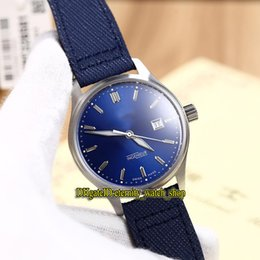 Luxury Watches Blue Australia - Luxury New INGENIEUR FAMILY IW323310 Blue Date Dial Japan Miyota Automatic Mens Watch Sapphire Glass Silvery Case Leather Strap Watches