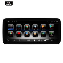 radio antenna auto UK - Android 9 Car DVD player GPS Navigation For Mecerdes Benz C-W205 2015-2018 Auto Radio stereo multimedia screen head unit