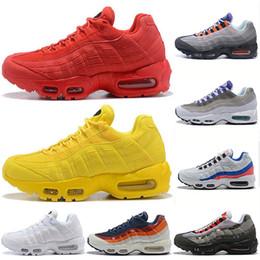 best cheap 8480e 923b0 Nike Air Max 95 Descuento Zapatillas de running 95 para hombre Neón Uva  Panache Codicioso 95s Mujeres Triple Blanco Negro Amarillo Rojo Diseñador  Zapatillas ...
