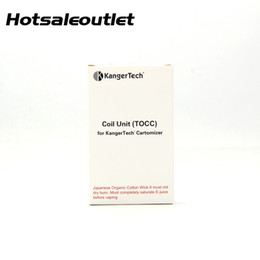 tocc coils UK - Kanger T3S Coil (TOCC) head Japanese Organic Cotton Wick T3S TOCC Coils for Kanger T3S MT3S Atomizer 100% Authentic