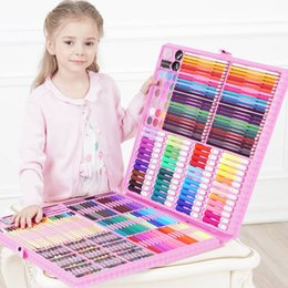 kids stationery gift sets 2020 - DINGYI 108 168 288pcs Drawing Tools Art Painting Set Watercolor Marker Brush Pen For Kids Gift Art Supplies School Stati