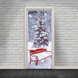 Art People Australia - 2Pcs Set Merry Christmas Door Stickers Snowman Art Wall Stickers Decal Party Decor Home Shop Window Living Room Wall Sticker For Door