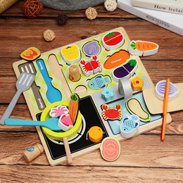 toy play food NZ - Wood Food Educational Toy Kitchen Toys Set Children Barbecue Pretend Role Play