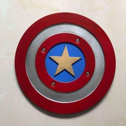 superheroes party decorations NZ - 1:1 Captain America Shield Cosplay Prop Halloween superhero Cosplay props Party Decoration Model Toy 44cm