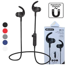 Wireless Headphones Mic Blue Australia - new MS-T3 Magnetic Wireless Bluetooth headphones Running Headset With Mic MP3 Earbud Bass Stereo BT 4.2 For iphone xiaomi samsung