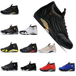 4c20a0eb99d2 2019 Mens Designer 14 14s The Last Shot basketball shoes Desert Sand DMP Black  Toe Red Thunder Mens Sports Trainers designer sneakers 41-47