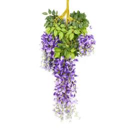 $enCountryForm.capitalKeyWord Australia - 6 Pcs Artificial Wisteria Garland Ivy Vine Silk Hanging Plants For Wedding Outdoors Home Garden Party Decorations Simulation Flo