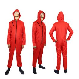 Wholesale nylon costume male for sale - Group buy Movie La Casa De Papel Salvador Dali Costume The House of Paper Cosplay Playing Party Halloween Money Heist Costume XS XL