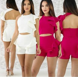 $enCountryForm.capitalKeyWord Australia - Two Piece Set Women Summer Bodycon Tracksuit Backless Suit Sexy White Crop Tops and Shorts 2 Piece Sets Female