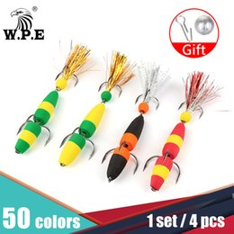 Discount swimming minnow fishing lure Fishing Lures W.P.E Size L 4 pcs lot Fishing Lure Swim Artificial Wobbler Bass Lure Jig Soft Bait Minnow Floats with