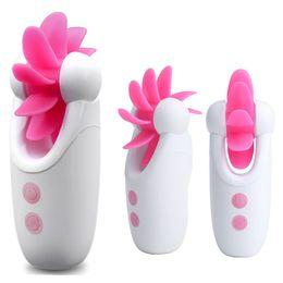 Female Stimulation Toys Australia - Sex Toys for Woman Licking Clitoris Vibrator Rotation Vibrating Oral Sex Stimulation Tongue Female Breast Sex Massager Silicone