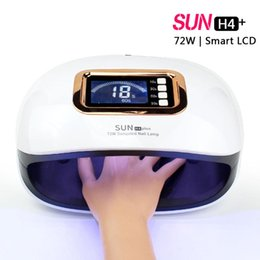 led sun lamp NZ - SUN H4 plus Ice Lamp Lamp For Manicure Nails UV LED Nail 72W Curing Gel Polish Varnish Machine With Timer 10s 30s 60s 99s