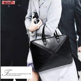 b89933ca2a Leather Laptop Messenger Bags Women Australia - BJYL Men And Women Briefcase  Thin Section Business 15