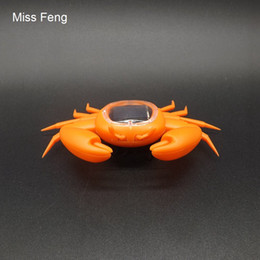solar powered gadgets gifts UK - Solar-Crab-Orange   Cute Crab Solar Power Toy, Novelty Trick Game Christmas Gift Gadget