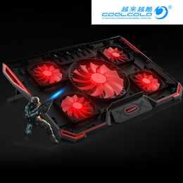 Fans 12 Australia - CoolCold 5 FAN 2 USB Laptop Cooling Pad Adjustable Notebook Cooler +Holder for 12-17' Laptop usb fan
