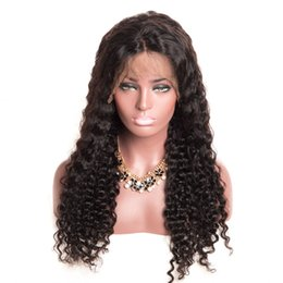 $enCountryForm.capitalKeyWord Australia - Hot Selling Style Indian Virgin Human Hair High Quality Swiss Lace Front Wigs Deep Curly Full Lace Wig