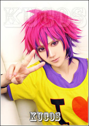 Wig Purple Mixed Australia - 663 No Game No Life Sora Rose Red mix Purple Short Cosplay Wig