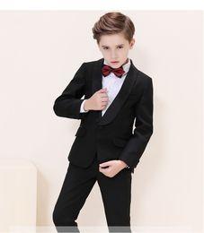 Handsome Kids Suits Australia - Handsome One Button Shawl Lapel Kid Complete Designer Handsome Boy Wedding Suit Boys' Attire Custom-made (Jacket+Pants+Tie) A14