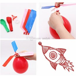 $enCountryForm.capitalKeyWord NZ - New Flying balloon helicopter DIY balloon airplane toy children's toy combination balloon children's puzzle toy T2G5015